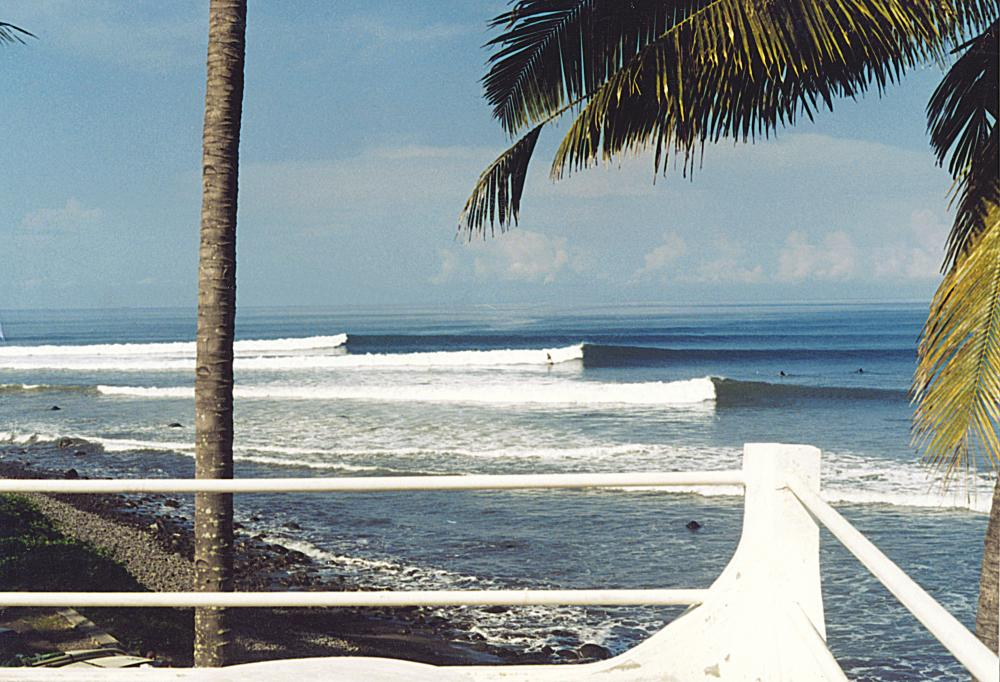 Medewi cobblestone pointbreak, 3 hours drive from Kuta. Photo Wayne McCormick, Out Of Control Surf Centre
