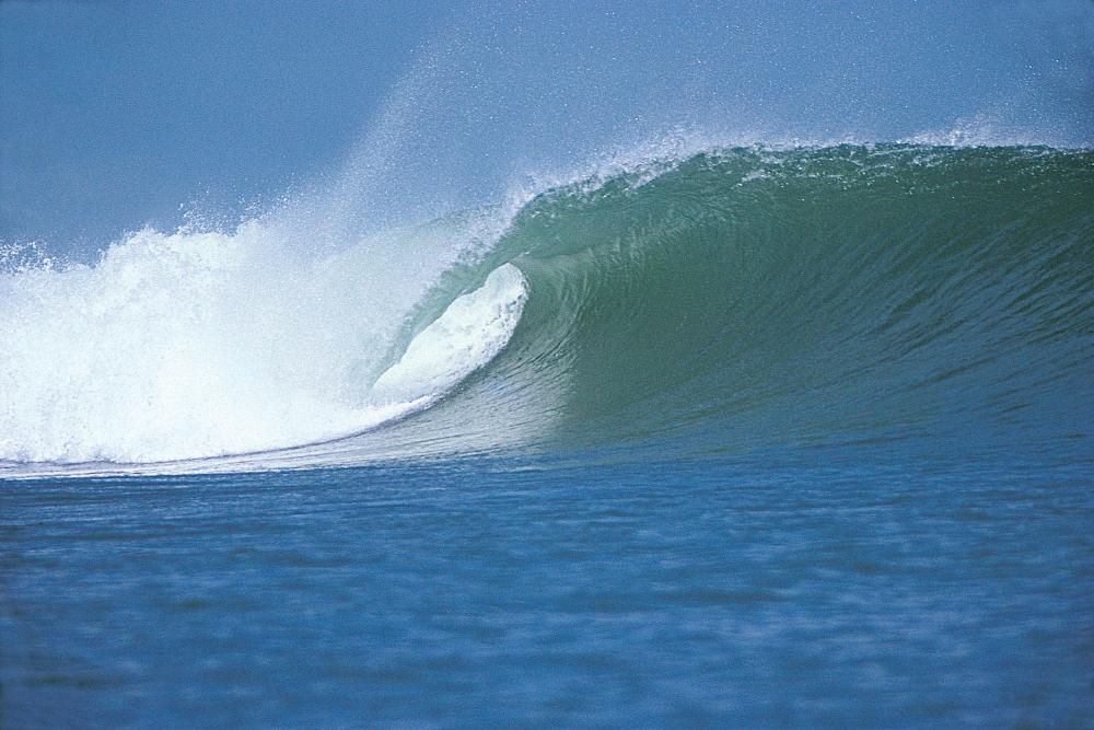 Even in 1980 it was crowded. This empty wave was during the Balinese qualifications for the Om Bali Pro. Photo Peter Neely